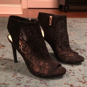 Jessica Simpson Open Toe Lace Booties